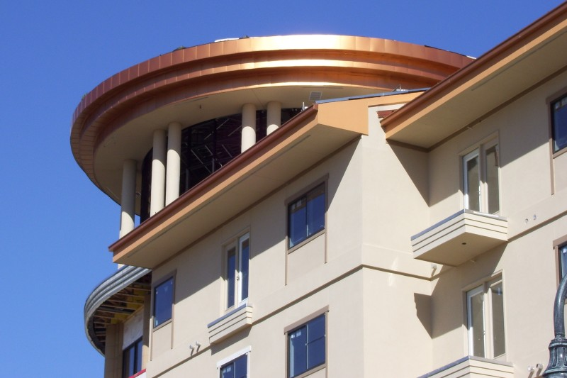 copper roofing feature